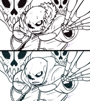 Sans (UF and UT) ((WIP I guess...)) by Luziland2