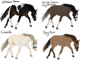 Horse Adoptables Batch 1 SOLD by ItsDirrtyArt