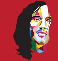 John Frusciante in WPAP by vector10