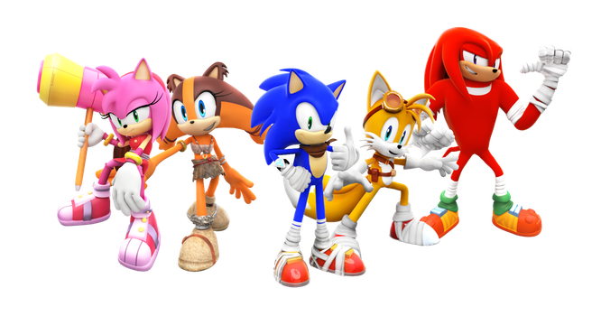 Sonic Boom Characters Render by SuperRatchetLimited