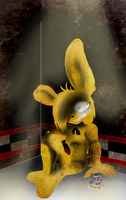 Lonely In The Corner O Golden Bunny by sheezy93