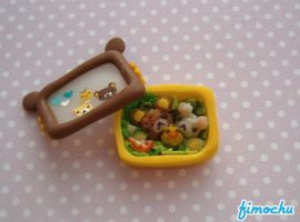 Miniature Rilakkuma Bento Box by Fimochu