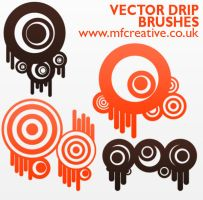 Vector Drip Brushes by mfcreative
