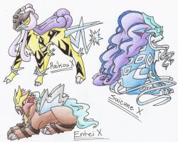 Legendary Beast Pokemon X by CelestialTentails