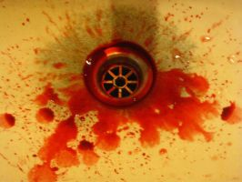 Bloody sink is Bloody by bailey1rox
