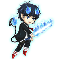 Rin Okumura by leziith