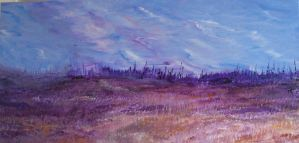 the outer banks in purple by vandersonart