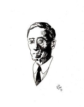 H.P Lovecraft Portrait by WillWatt