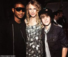 + usher, swift and bieber by withmusicinmyheart