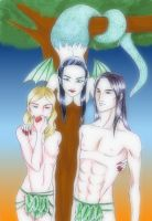 Adam, Eve and Lilith by shampz