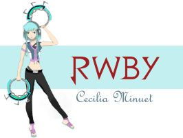 RWBY Original Character: Cecilia Minuet by warhippie56