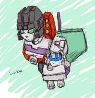 Starscream and Teddy Megs by Lusikka