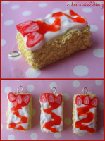 strawberry drizzle cake charms by citruscouture