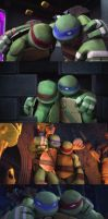 tmnt leo and raph by stevencigan