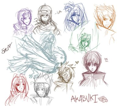 AKATSUKI AWESOME TIEM. by dark-reign