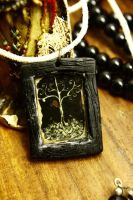 Whimsical tree pendant by sixAstray