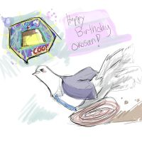 HAPPY BIRTHDAY OKOSAN by MiharuZee