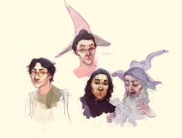 Hogwarts faces by Baishare