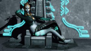 Midna on the Throne by DarklordIIID