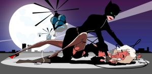 Catwoman (and stay down) by Dog-earedArt