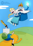 Adventure time/frozen Mash up. Ice king meets elsa by karlyb-illustration