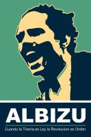 Albizu - Green Poster by exvoxdesigns
