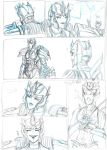 Transformers Prime comic page WIP by Star10