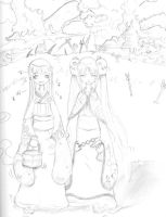lil and ree day out by LoneyAngel88
