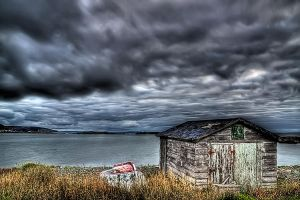 Sea Side Shed HDR by Witch-Dr-Tim