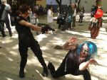 resident evil umbrella vs. zombie by TheFoxyCow