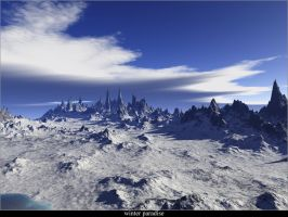 Winter Paradise - Terragen 04 by rmgr