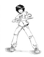 Percy Jackson inked 2 by RustyArtist