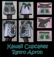 Kawaii Cupcake Retro Apron by ZenAndCoffee