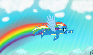 Rainbow Dash as wonderbolt by lKittyTaill