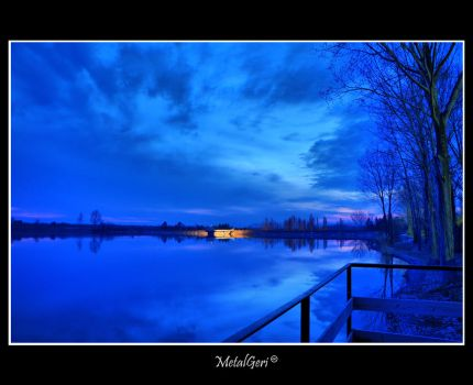 Blue-hour at the Lake by MetalGeri