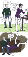 The Saga of Trouserless Sherlock by taconaco