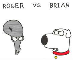 Roger vs. Brian by BrianGriffinFan