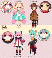ADOPTABLES - Trella batch 01 [SOLD] by inma