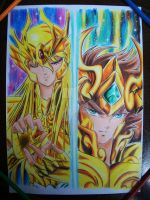 shaka vs aioria by vitorsantos18
