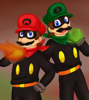 The Red Blaze and Green Thunder by RS-V22