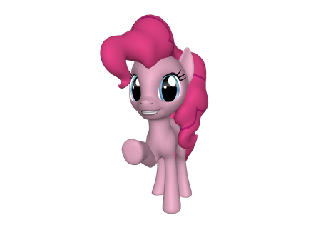 Pinkie Pie in 3D by AquaButton
