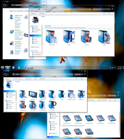 Uniq Azure Icons Desktop. by Fiazi