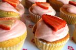 350 Spring  Strawberry Cupcakes by Cocuri
