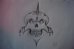 Angry skull by NEV3RM1ND