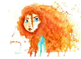 Disney Princess: Merida by a-llania