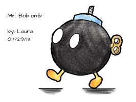 Mr. Bob-omb by subatomiclaura