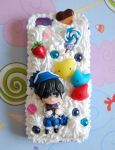 Handmade Black Butler decoden iPhone 5 case by SimonaZ