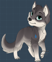 Rapid the Wolf (wolf form) by AmbertheWolf15