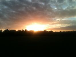 Sunset Over Canford Heath by Aidier