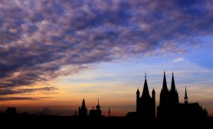 sunset in cologne by myrurupon